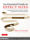 The Essential Guide to Effect Sizes (eBook): Statistical Power, Meta-Analysis, and the Interpretation of Research Results