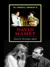 The Cambridge Companion to David Mamet (eBook)