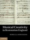 Musical Creativity in Restoration England (eBook)