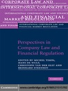 Perspectives in Company Law and Financial Regulation (eBook)