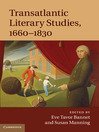 Transatlantic Literary Studies, 1660-1830 (eBook)