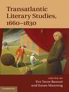 Transatlantic Literary Studies, 1660-1830 (eBook)