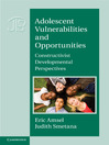 Adolescent Vulnerabilities and Opportunities (eBook): Developmental and Constructivist Perspectives