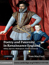 Poetry and Paternity in Renaissance England (eBook): Sidney, Spenser, Shakespeare, Donne and Johson