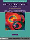 Organizational Trust (eBook): A Cultural Perspective