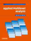 Applied Multilevel Analysis (eBook): A Practical Guide for Medical Researchers