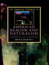 The Cambridge Companion to American Realism and Naturalism (eBook): From Howells to London