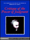 Critique of the Power of Judgment (eBook)
