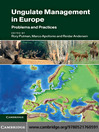 Ungulate Management in Europe (eBook): Problems and Practices