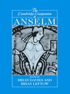 The Cambridge Companion to Anselm (eBook)