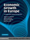 Economic Growth in Europe (eBook): A Comparative Industry Perspective
