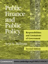 Public Finance and Public Policy (eBook)