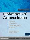 Fundamentals of Anaesthesia (eBook)
