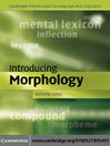 Introducing Morphology (eBook)