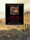 The Cambridge Companion to English Literature, 1650-1740 (eBook)