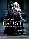 Goethe's Faust (eBook): Theatre of Modernity