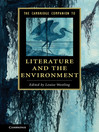 The Cambridge Companion to Literature and the Environment (eBook)