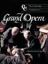 The Cambridge Companion to Grand Opera (eBook)