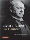 Henry James in Context (eBook)
