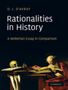 Rationalities in History (eBook): A Weberian Essay in Comparison