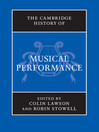 The Cambridge History of Musical Performance (eBook)