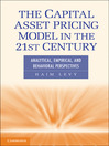 The Capital Asset Pricing Model in the 21st Century (eBook): Analytical, Empirical, and Behavioral Perspectives