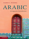 Arabic (eBook): A Linguistic Introduction