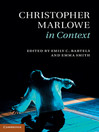 Christopher Marlowe in Context (eBook)