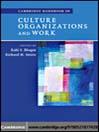 Cambridge Handbook of Culture, Organizations, and Work (eBook)