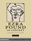 Ezra Pound in Context (eBook)