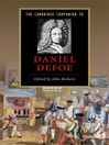 The Cambridge Companion to Daniel Defoe (eBook)