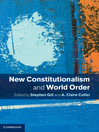 New Constitutionalism and World Order (eBook)