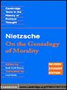 Nietzsche (eBook): On the Genealogy of Morality' and Other Writings Student Edition