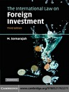The International Law on Foreign Investment (eBook)
