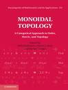 Monoidal Topology (eBook): A Categorical Approach to Order, Metric and Topology