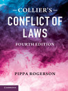Collier's Conflict of Laws  4 by Pippa Rogerson eBook