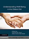 Understanding Well-Being in the Oldest Old (eBook)