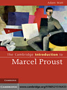 The Cambridge Introduction to Marcel Proust (eBook)