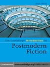 The Cambridge Introduction to Postmodern Fiction (eBook)