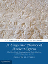 A Linguistic History of Ancient Cyprus (eBook): The Non-Greek Languages and their Relations with Greek, c.1600–300 BC