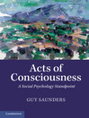 Acts of Consciousness (eBook): A Social Psychology Standpoint