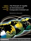The Principle of Legality in International and Comparative Criminal Law (eBook)