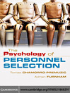 The Psychology of Personnel Selection (eBook)