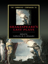 The Cambridge Companion to Shakespeare's Last Plays (eBook)