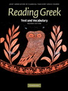 Reading Greek (eBook): Text and Vocabulary