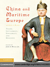 China and Maritime Europe, 1500-1800 (eBook)