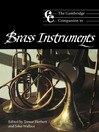 The Cambridge Companion to Brass Instruments (eBook)