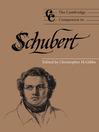 The Cambridge Companion to Schubert (eBook)