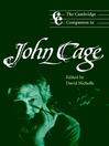 The Cambridge Companion to John Cage (eBook)