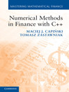 Numerical Methods in Finance with C++ (eBook)